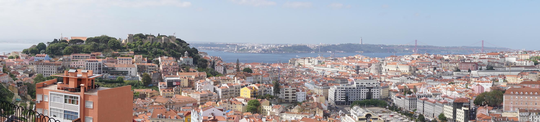 Vue sur Lisbonne depuis le point de vue de Nossa Senhora do Monte