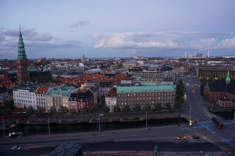 Vue sur Copenhague depuis le sommet